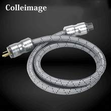Colleimage Hifi American Audio CD Amplifier power Cable US AC Power Cord US EU Plug DVD Multimedia Power Line(China)