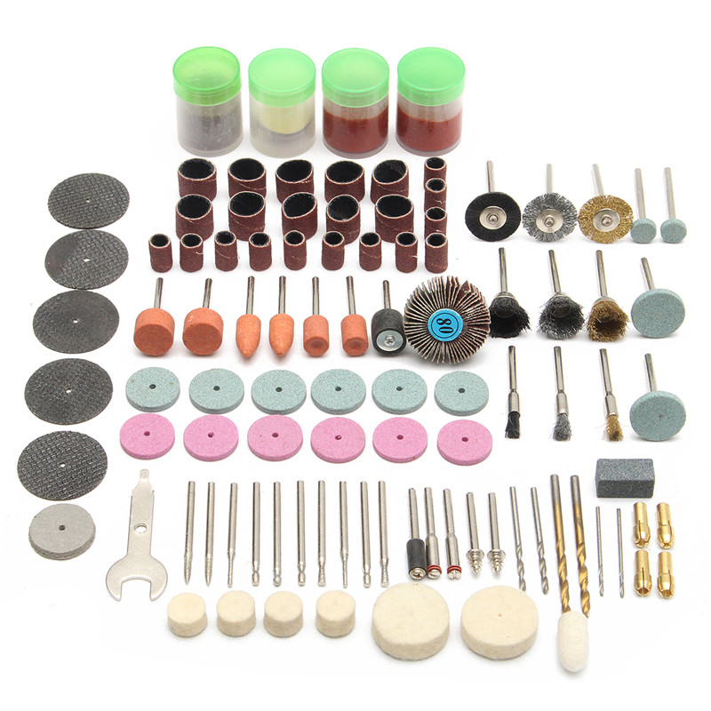 142pcs Electric Grinder Rotary Tool Accessory Bit Set For Dremel Grinding Sanding Polishing Disc Wheel Tip Cutter Drill Disc