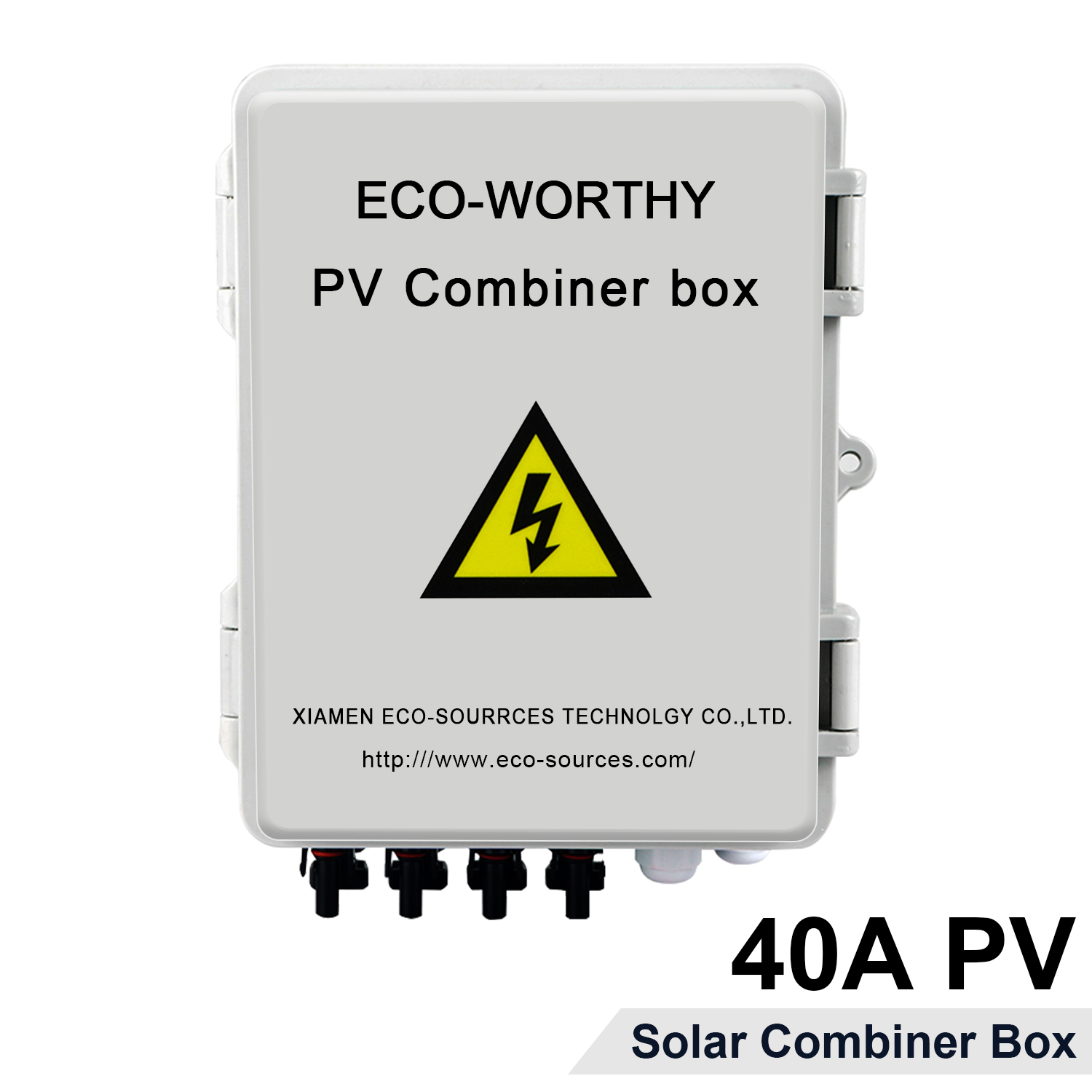ECO-WORTHY PV Combiner Box For Solar Panels, With Lightning Arreste, Current And Circuit Brekers (4 String)