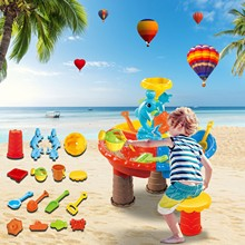 21pcs Beach Toys For Kids Play Water Toys Sand Box Set Kit Sand Table Sand Bucket Summer Toys for Beach Play Sand Water Game FE
