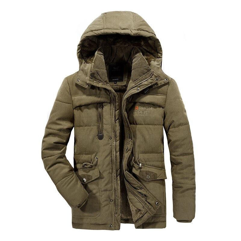Men Winter Jacket 8XL Thick Warm Parka Fleece Fur Hooded Military Jacket Outdoor Sport Coat Hiking Camping Trekking Skiing Male
