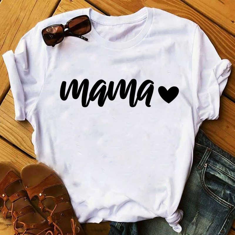 Mulheres 2020 mam amor impresso bonito casual das mulheres topo do dia das mães t camisa t-shirts roupas senhora senhoras gráfico camiseta fêmea