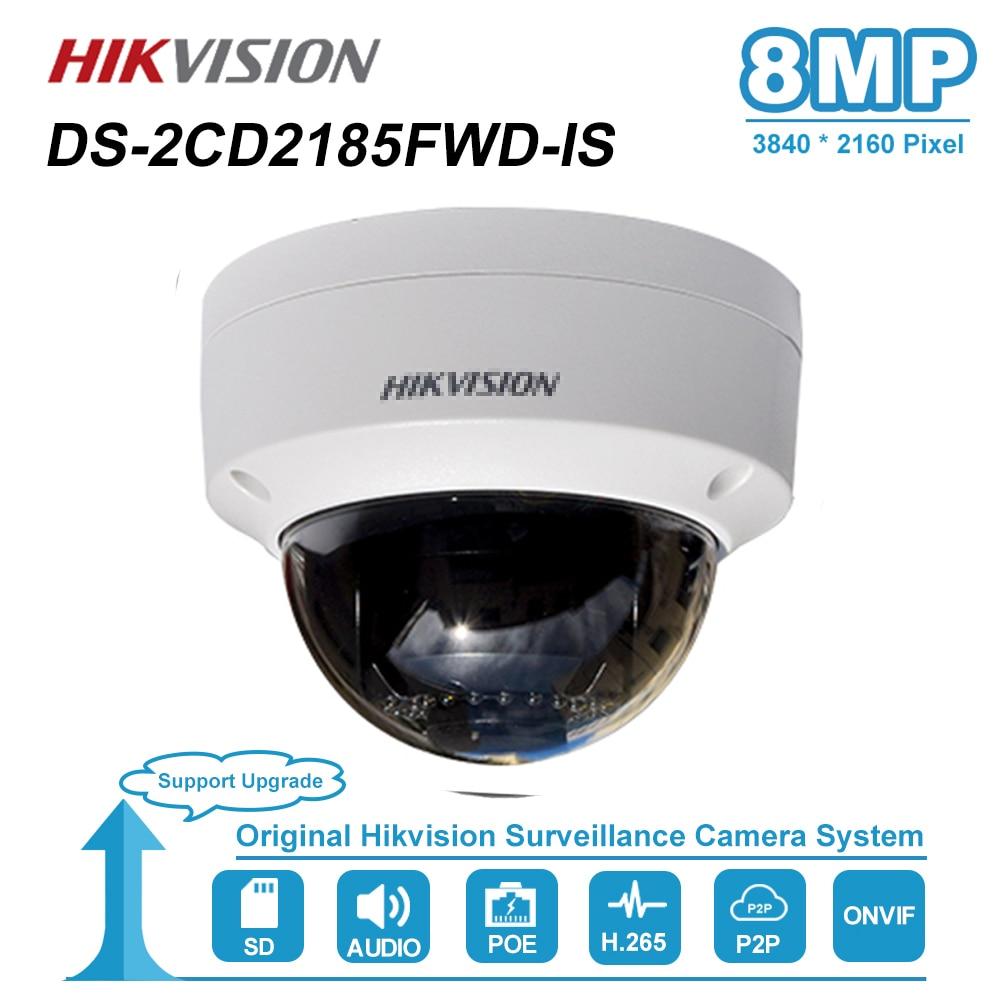 Câmera Dome IP PoE Hikvision 8MP 30 IP67 CCTV Segurança Vigilância Night Vision IR À Prova de Intempéries Ao Ar Livre M DS-2CD2185FWD-IS