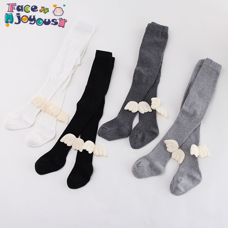 Toddler Baby Kids Soft Cotton Angel Wings Pantyhose Tights Hosiery Baby Warm Stockings Children Girl Tights