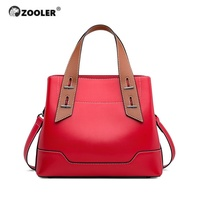 ZOOLER Exclusively Handbag Women's Cow Leather bags Female Shoulder bag Patchwork designer Luxury Lady Tote Large Capacity WG238