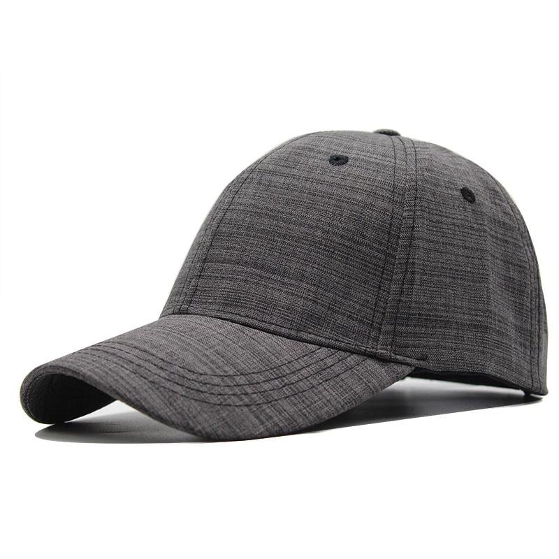 100% Cotton Baseball Cap Black Gray Adult  Snapback Hat For Men Women Solid Color Hip Hop Hat Dad Hats