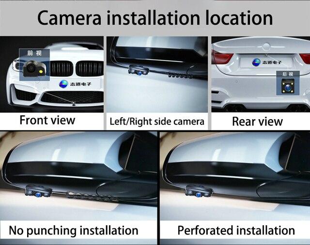 Sistema de cámara de coche con pantalla de 10 pulgadas y 6 cámaras para el coche familiar, nuevo estilo, 2020