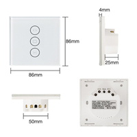 Curtain With WIFI Switch For Electric Motorized Curtain Roller Shutter Curtain Alexa Voice Control Intelligent Switch
