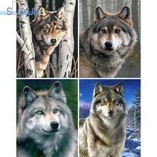 Sdoyuno diy Краска по номерам волк 60х75см масляная краска ing