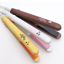 Mini Professional Hair Straightener Styling Tool Travel Flat Iron Mini Hair Beard Comb Straightener Ceramic Tourmaline Ionic Fla