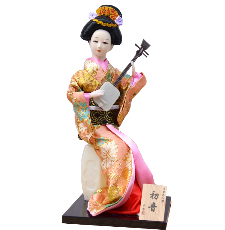 2019 Japanese Silk Furnishings Kimono Kabuki Geisha Doll Handicraft Ornaments Japanese Humanoid Figures Home Decoration ZL215