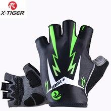X Tiger Handschoenen Mens Vrouwen Mtb Road Handschoenen Reflecterende Mountainbike Half Vinger Handschoenen Fiets Non slip Sport Handschoenen
