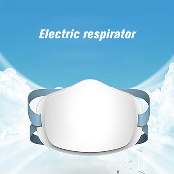 4 Layers Electric Mask Respirator Face Mask Air Purifying Dustproof Mask Face Mouth Mask USB Rechargeable 4 Layers