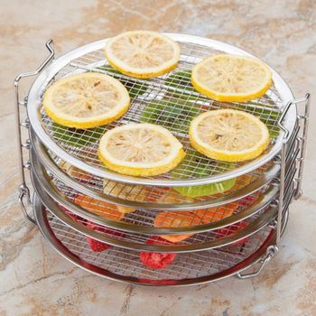 Akcesoria do frytownic odwadniacz żywności stojąca suszarka ze stojakiem na frytownicę 6 5-8QT szybkowar piekarnik 5 wyjmowanych tacek tanie i dobre opinie CN (pochodzenie)