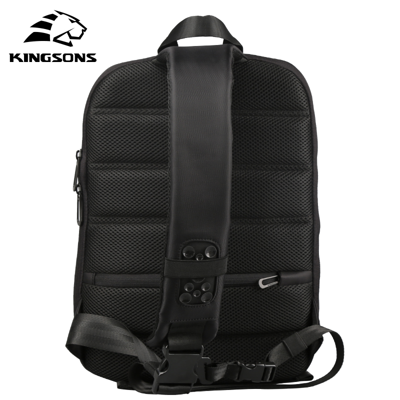 Kingsons 13.3 inch High Quality Chest Backpack For Men Female Casual Crossbody School Bag Casual Style Travel Business Backpack