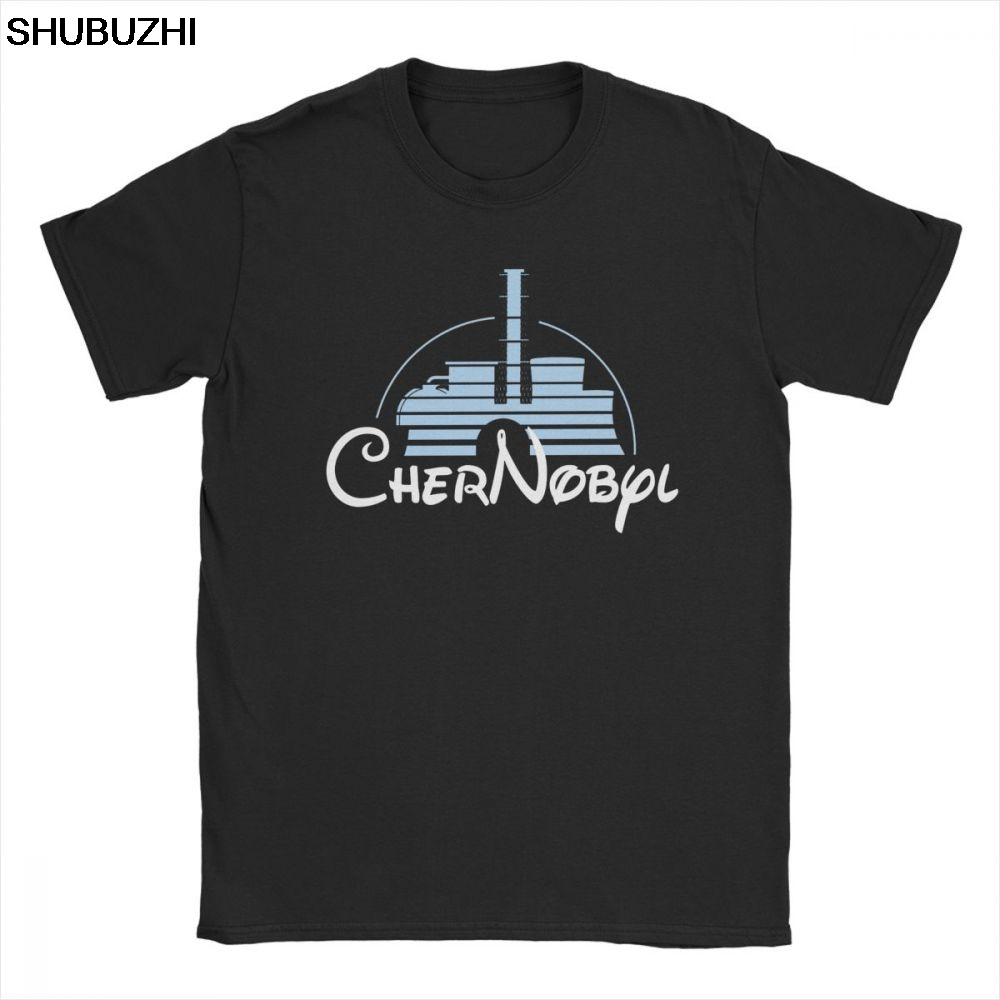 Men's Nuclear Disaster Chernobyl Geek Ukraine Radiation Vintage T Shirt Pure Cotton Tops Novelty Tee Shirt Plus Size T-Shirts