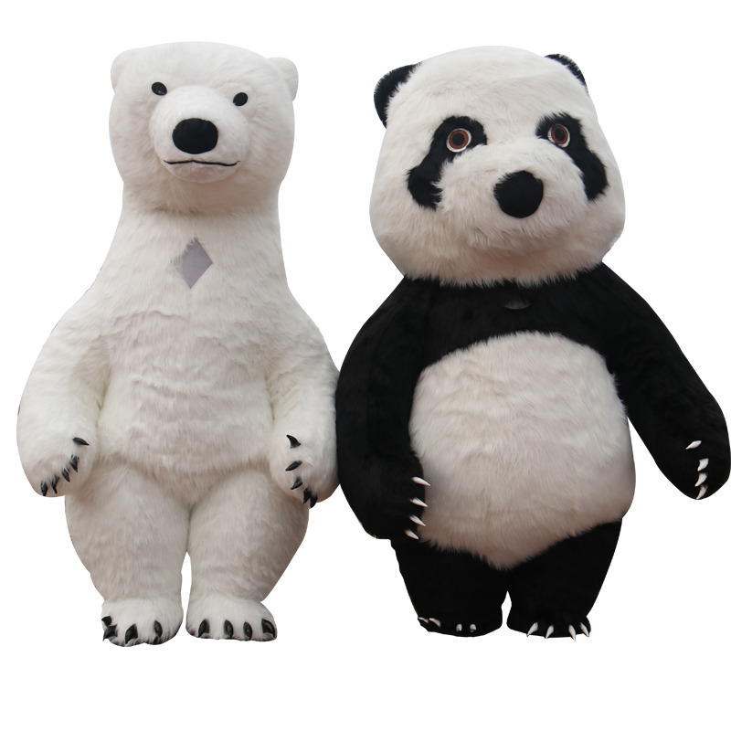 2.6m 3m Air Inflation Panda Polar Bear Mascot Costume For Advertising Customize Adult For Wedding Mascot Costume Animal Costume