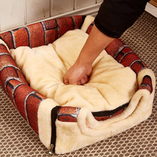 Kennel Mat Nest Travel-Tent Cat House Soft-Bed Dog Puppy Foldable Small with for Medium