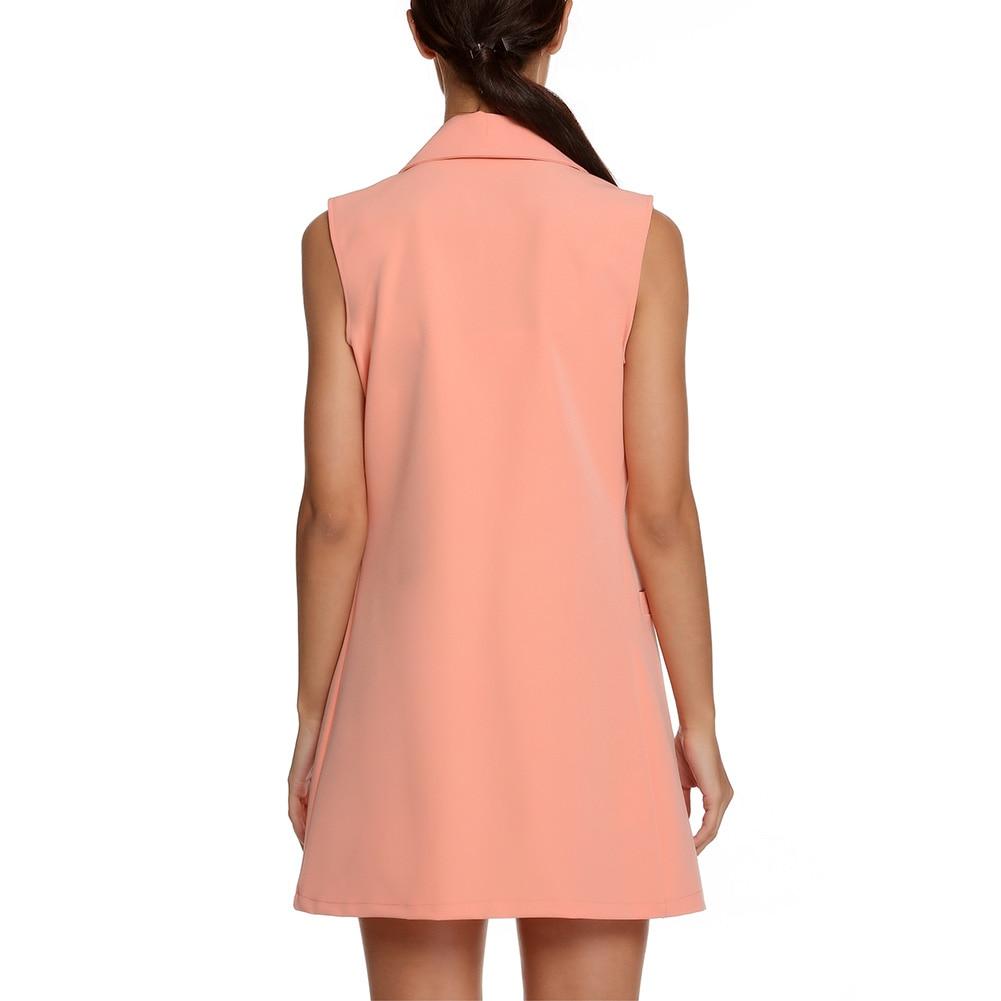 He764a7b99e0c4f33ab5becb7ae1cad87D Summer V-Neck Vest Pocket Women Thin Loose Waistcoat Single Breasted Sleeveless Blazer Feminino Short Slim Vest Femme Tide XXL