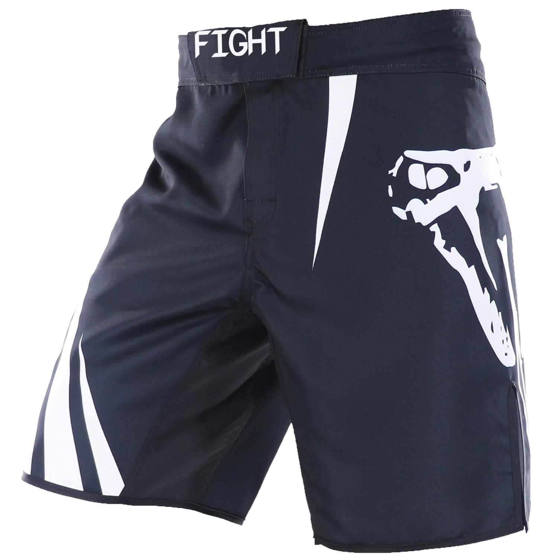 Stretch Black MMA Shorts Muay Thai Boxing Short Pants Fighting Kick Men Fight