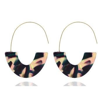 Women Earrings Statement Earrings Geometric Pendant Trend Fashion Jewelry Drop Hanging Dangle Earring Charm Colorful 4