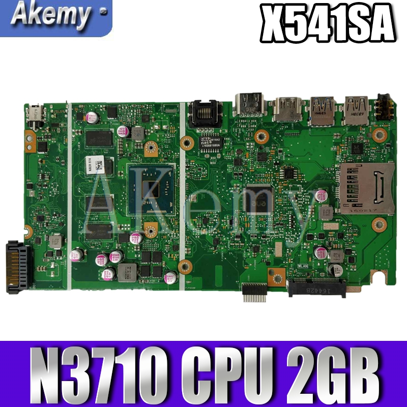 Akemy X541SA motherboard For ASUS X541SA X541S F541S CPU/N3710 2GB/Memory laptop motherboard tested 100% work original mainboard