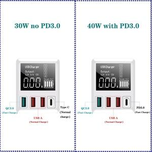 Image 2 - 30/40 Вт Быстрая зарядка QC3.0 USB зарядное устройство настенный дорожный мобильный телефон адаптер быстрое зарядное устройство USB зарядное устройство для iPhone Xiaomi Huawei Samsung