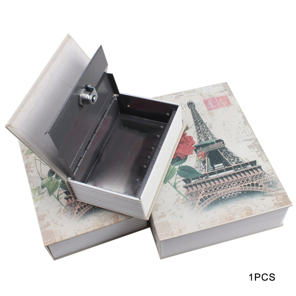 Exquisite Creative Book Safe Creative Book Insurance Box Money Box Small Key Box Creative Storage Gift