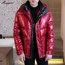 Winter Jacket For Men 2020 Male Fashion Glossy Hooded Down Cotton Padded Thicken Warm Parka Coats Men's Casual Hip Hop Overcat