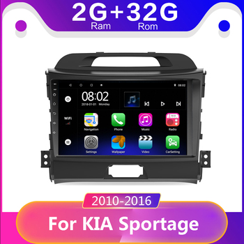 9 inch 2din Android 9.1 Autoradio Head Unit For 2010 2011 2012 2013 2014 2015 KIA Sportage Audio Radio Car GPS Multimedia Playe image