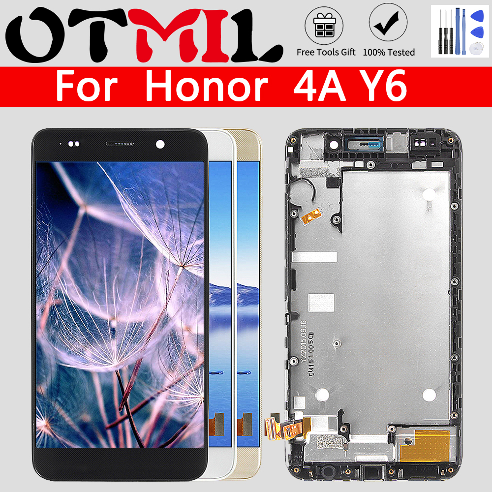 OTMIL For Huawei Honor 4A Y6 SCL-L01 SCL-L21 SCL-L04 LCD Display Module + Touch Screen Sensor Assembly With Frame