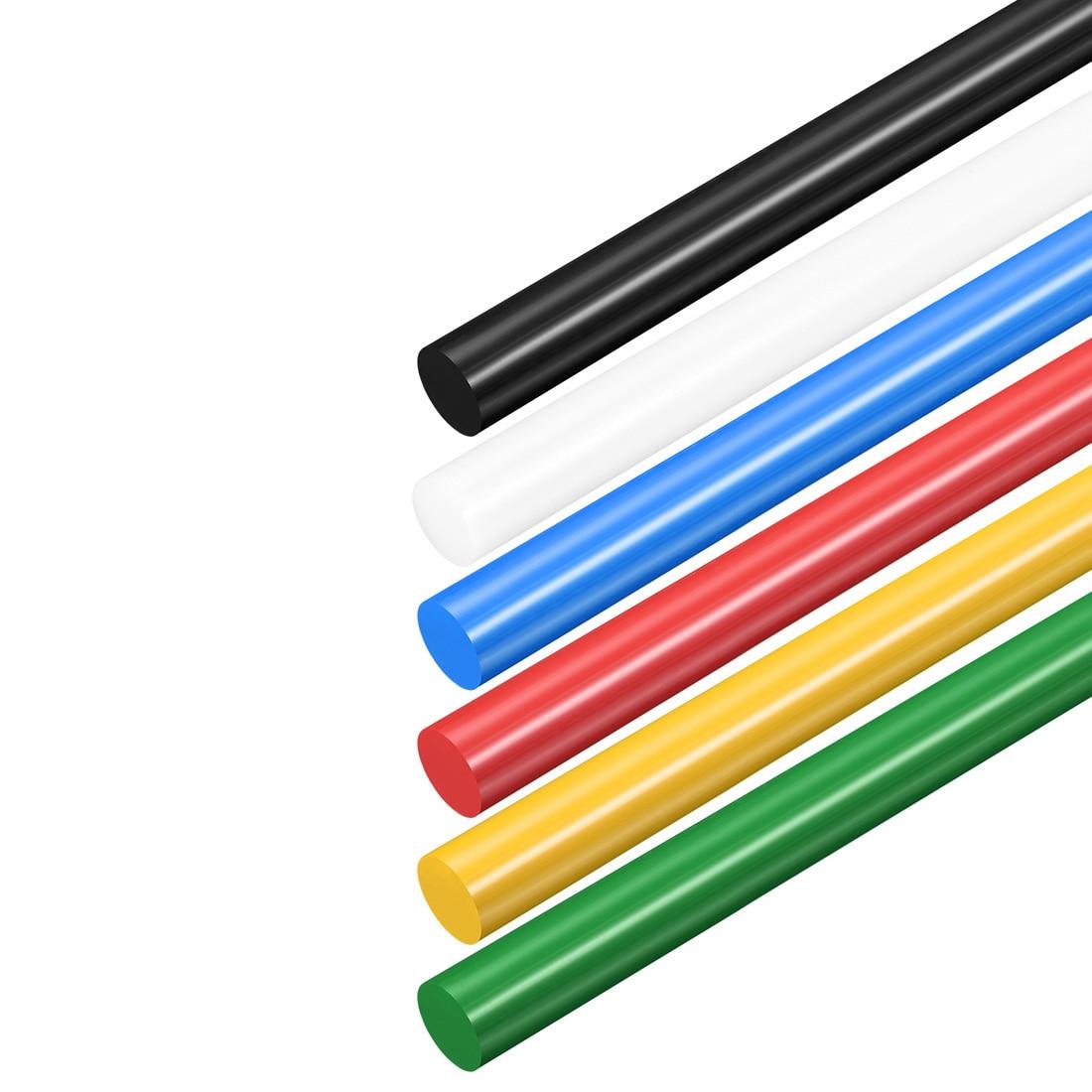Uxcell 1Pcs 2Pcs 3Pcs Plastic Round Rod Polyoxymethylene Rods 8mm Dia 50cm Length Engineering Plastic Round Bar Tough Stable