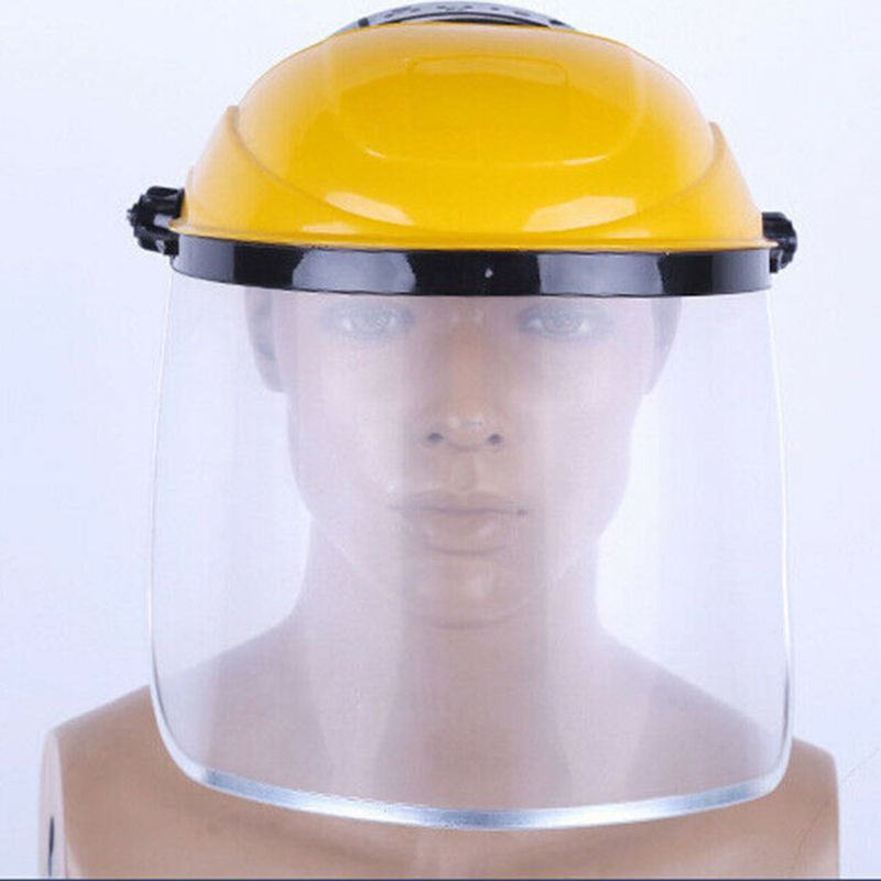 Multipurpose Transparent Removable Clear Safety Protective Cover Head-mounted Face Eye Shield Screen Grinding