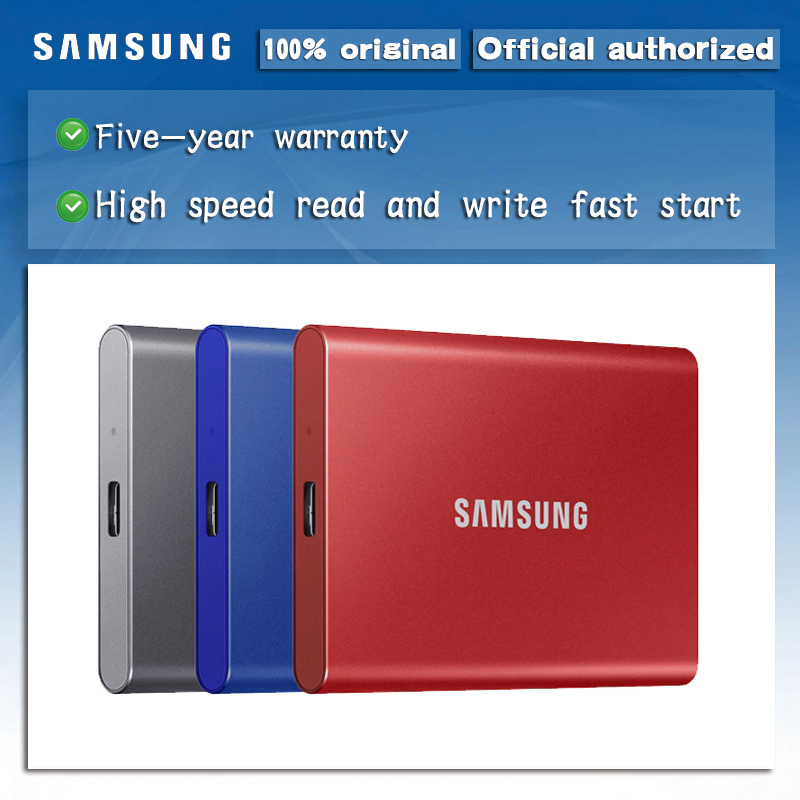 samsung T7 portable SSD 2TB 1TB 500GB External Solid State Drives Type C USB 3.2 Gen2 compatible for laptop|External Solid State Drives| - AliExpress