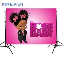 Sxy1726 אפריקה ילדה תינוק בוס יום הולדת מותאם אישית תמונה סטודיו רקע תפאורות Photophone באנר ויניל 220x150cm
