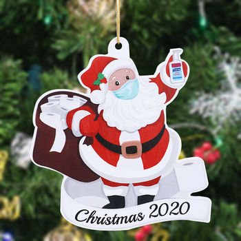 FREE SHIPPING Christmas Ornaments Santa Xmas Tree Decorations Hanging Pendant Decor Xmas Gift For Baby Kids image
