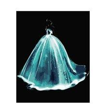 Кристалл свадебное платье diy холст акриловая краска ing по