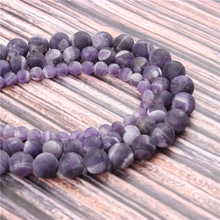 Hot?Sale?Natural?Stone?Natural Amethyst 15.5?Pick?Size?6/8/10/12mm?fit?Diy?Charms?Beads?Jewelry?Making?Accessories