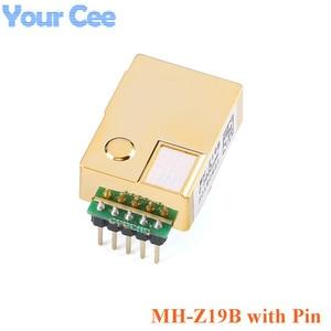 Image 3 - MH Z19 MH Z19B NDIR kızılötesi CO2 sensörü modülü kızılötesi karbon dioksit co2 monitör gaz sensörü 0 5000ppm LART PWM MH Z19B