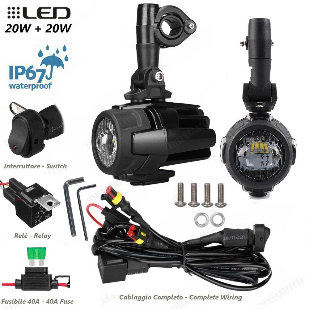 Feux de brouillard de moto pour BMW R1200GS ADV F800GS F700GS F650GS K1600 LED phare antibrouillard auxiliaire assemblé 40W - 2