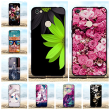 все цены на For Xiaomi Redmi Note 5A Prime Case Silicone TPU Luxury 3D Cute Flower Black Cover FOR Xiaomi Redmi Note 5A Prime Phone Cases онлайн