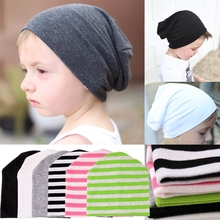 цена на NEW Newborn Baby Unisex Toddler Infant Boys Girls Striped Cotton Beanie Hat Soft Knit Cute Cap