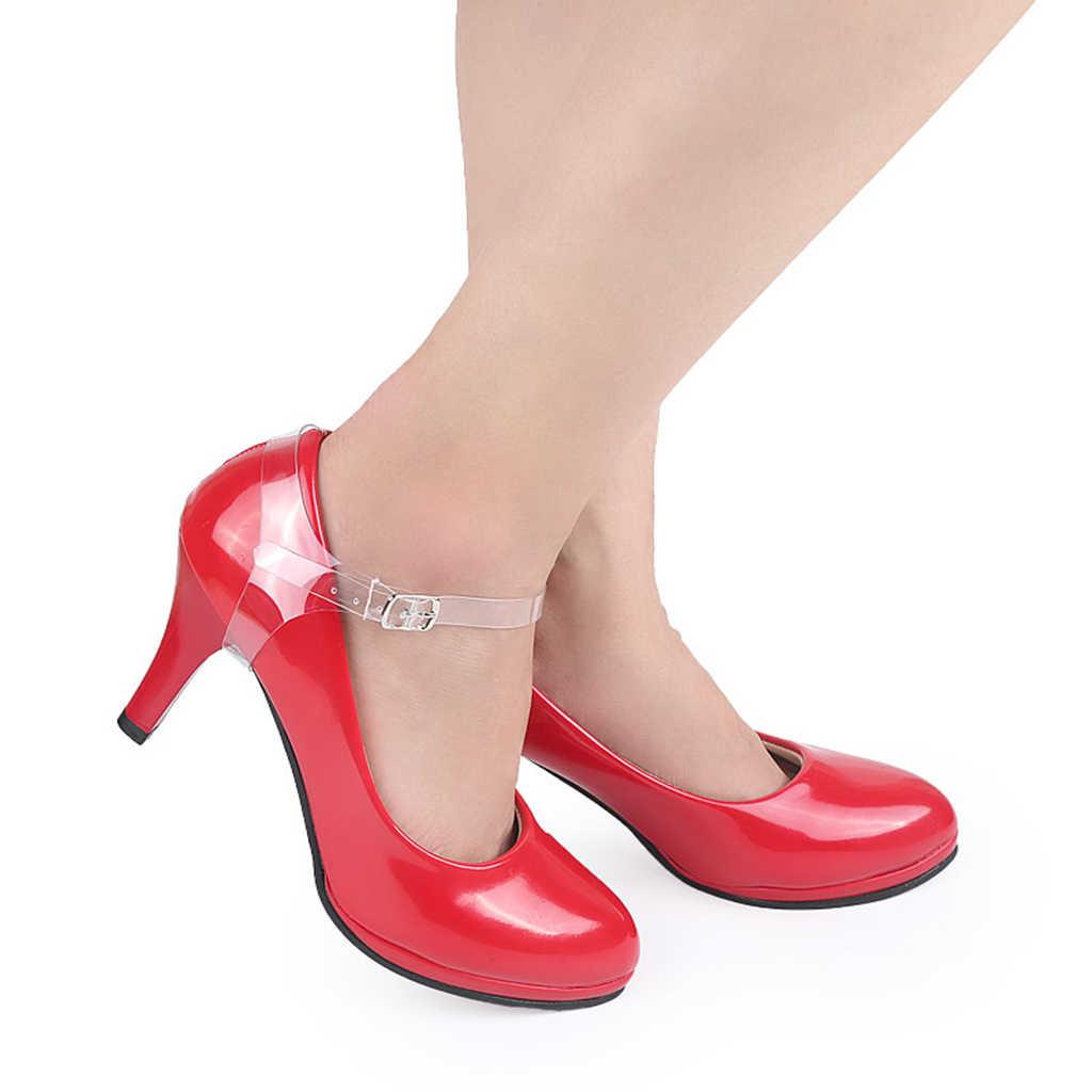 1 Pair Anti-slip Invisibile Cinghie di Scarpe Ddetachable Regolabile Lunghezza Lacci Delle Scarpe per la Allentato di Alta Tacco Pompe di Nozze Scarpe Ballrom