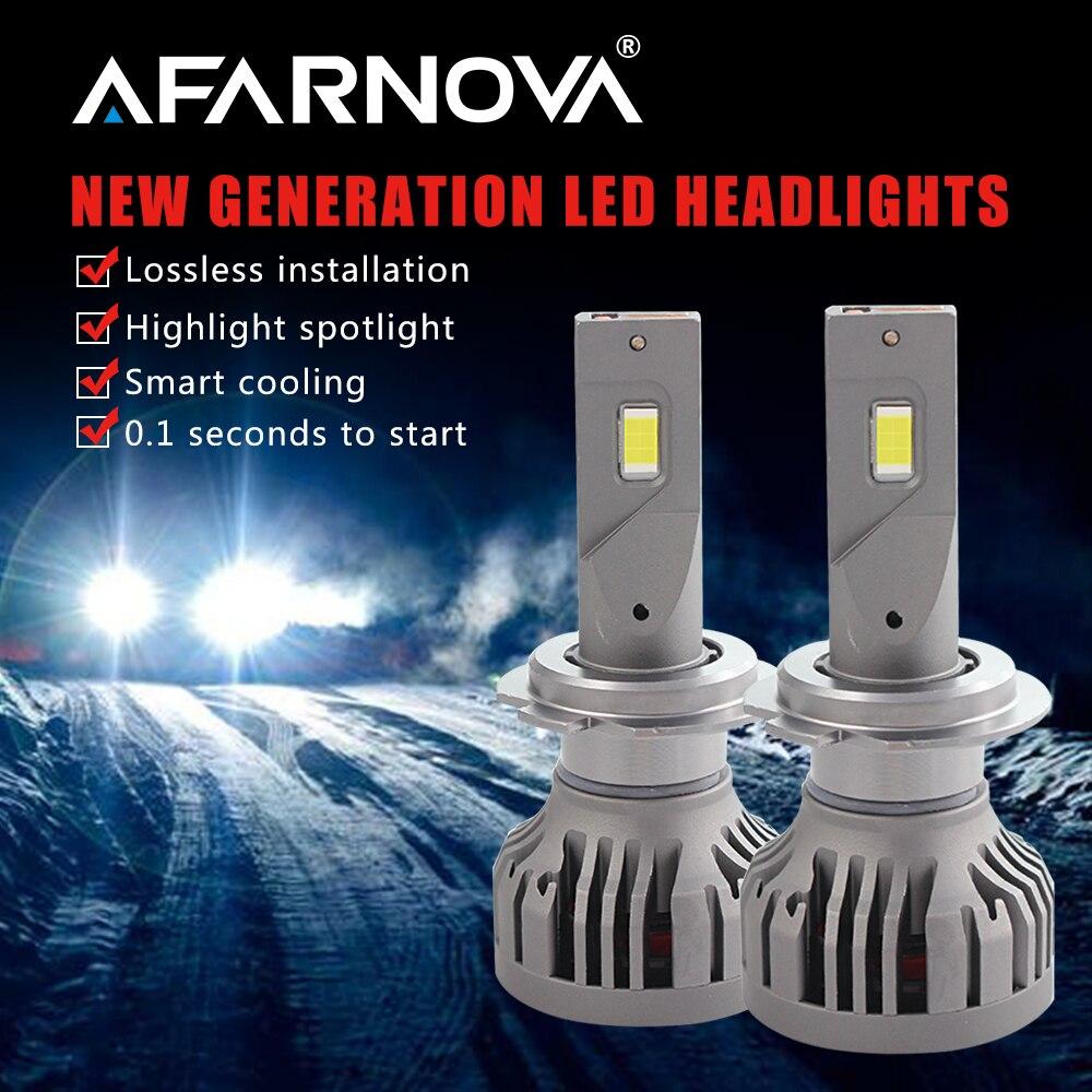 Afarnova Высокая мощность 9006 лм светодиодные фары 6500 H1 H4 H7 светодиодные фары Автомобильные светодиодные фары лампы H7 H4 светодиодные 24 в грузови...