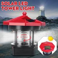 Nowy latarni statua kształt LED Solar światła obracanie na świeżym powietrzu automatycznie świeci zasilany energią słoneczną lampa do ogrodu dekoracja obejścia w Lampy solarne od Lampy i oświetlenie na