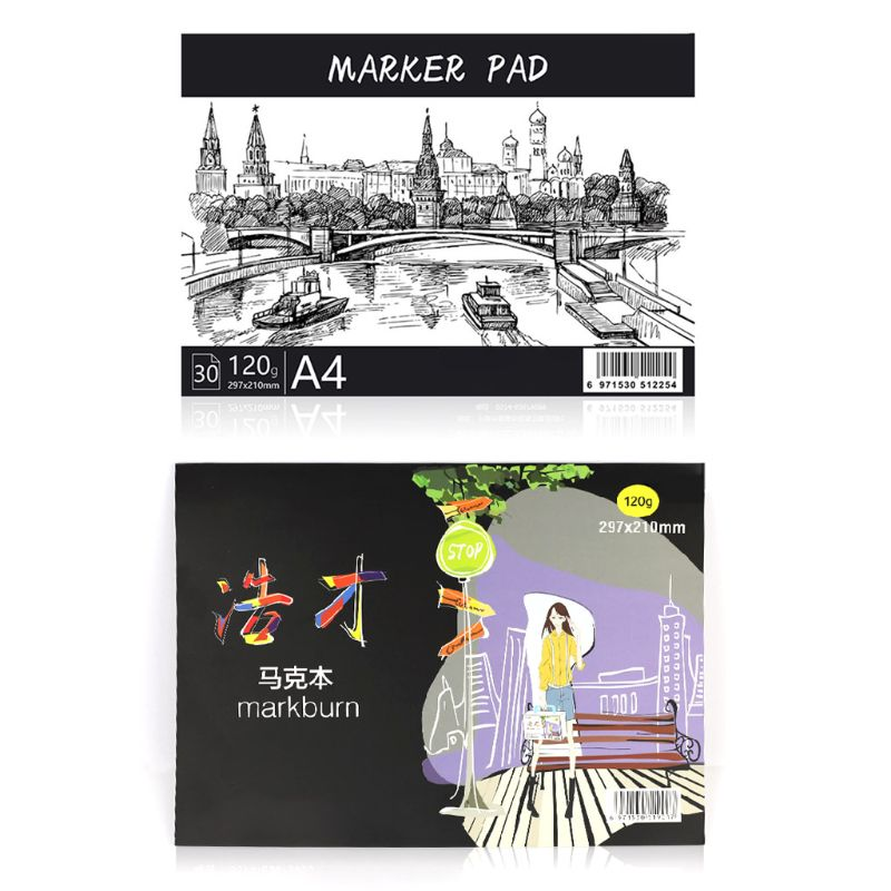 A3/A4/B5 Drawing Paper Pad Notebook Sketch Book For Marker Art Paiting Diary Student Gifts 30 Sheets LK