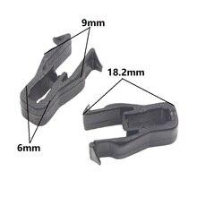 цена на 30x Universal Car Instrument panel Snaps clips Black Plastic Trim Panel Dashboard U Type Fasteners