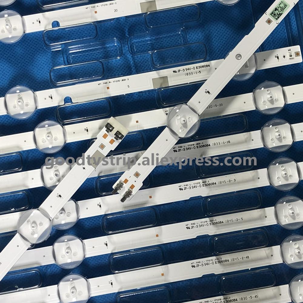 """Image 2 - 5set=40pcs LED backlight strip 7 lamp for Sam sung 43""""TV 2015 SVS43 FCOM FHD DOE B UA43J51SW UN43J5000 CY JJ043BGAV1H Un43j5200-in LED Bar Lights from Lights & Lighting"""