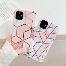 Fashion TPU Cover For iPhone 11 Pro Max Laser Stitching Geometric Phone Case iphone pro X XR XS 6 6s 7 8 plus
