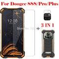 3 в 1 чехол + закаленное стекло для камеры Для Doogee S88 S88 Plus Защитное стекло для экрана для Doogee S88 Pro 3D стекло